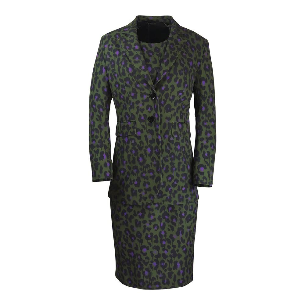 Moschino Boutique Animal Print Dress Green