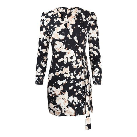 Moschino Boutique Patterned Wrap Dress
