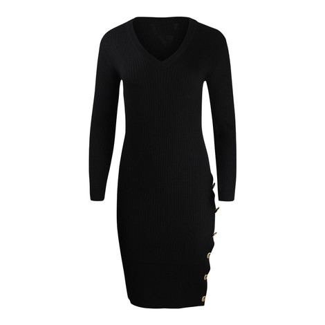Moschino Boutique V Neck Knitted Dress