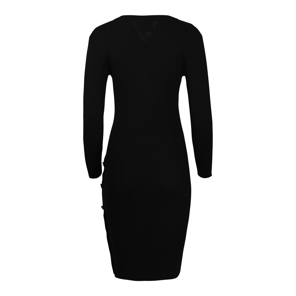 Moschino Boutique V Neck Knitted Dress Black