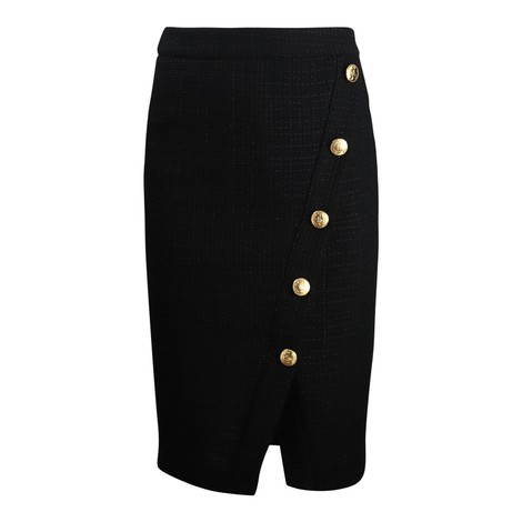Moschino Boutique Gold Button Skirt