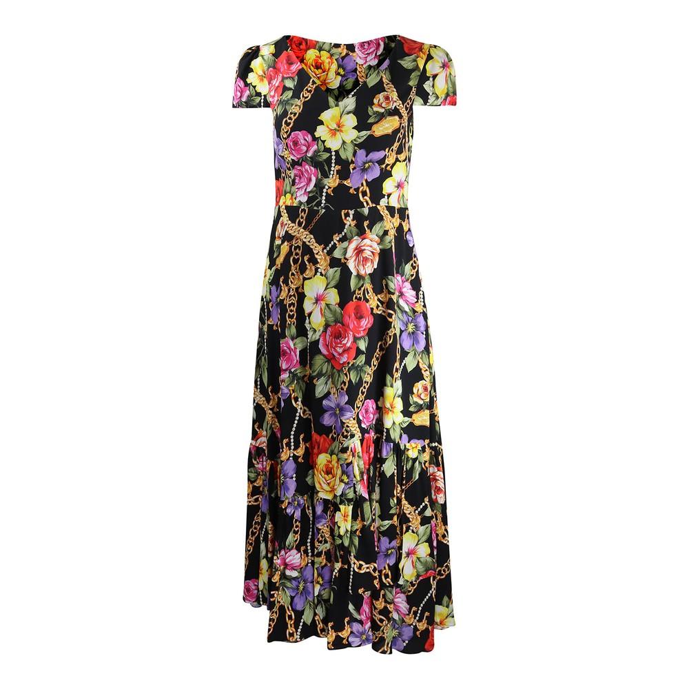 Moschino Boutique Fantasy Print Dress Black