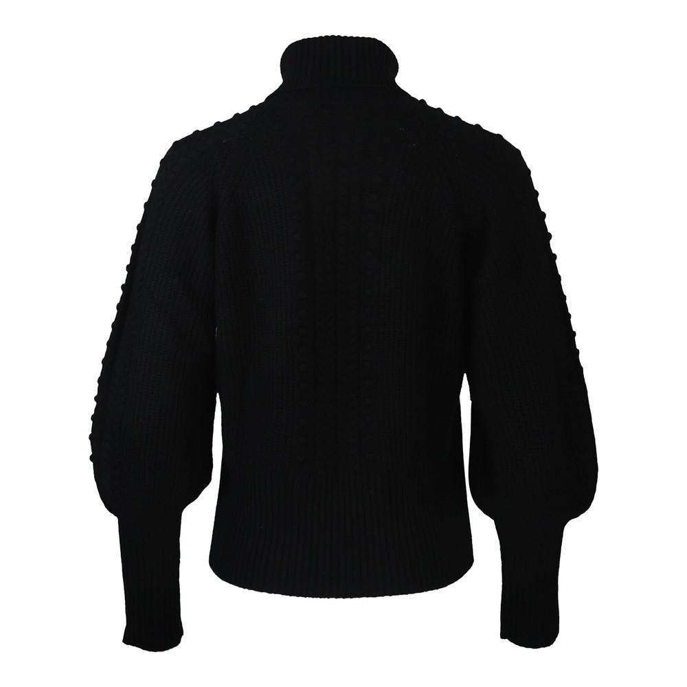 Cocoa Cashmere Nia Bobble Sleeved Jumper Black