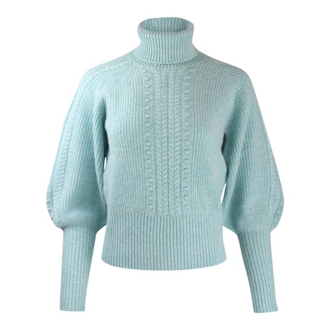 Cocoa Cashmere Nia Bobble Sleeved Jumper in Light Blue