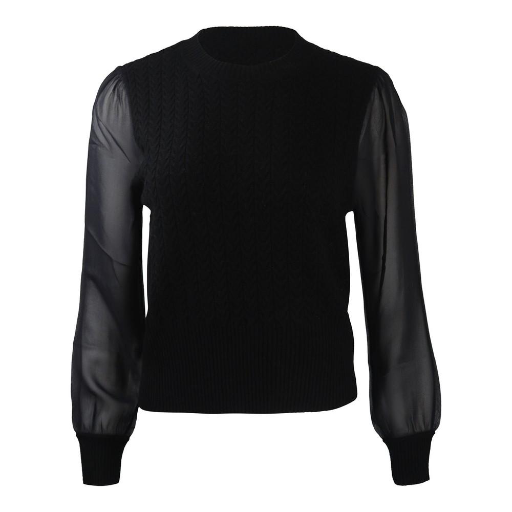 Maxmara Studio Arak Sheer Sleeved Knit Black