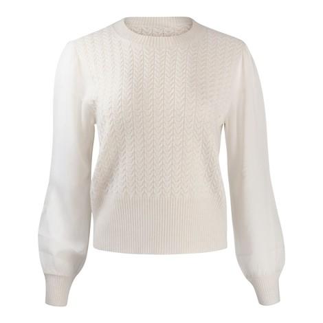 Maxmara Studio Arak Sheer Sleeved Knit