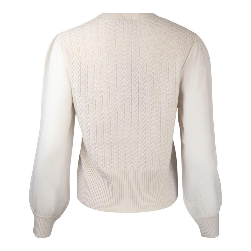 Maxmara Studio Arak Sheer Sleeved Knit White