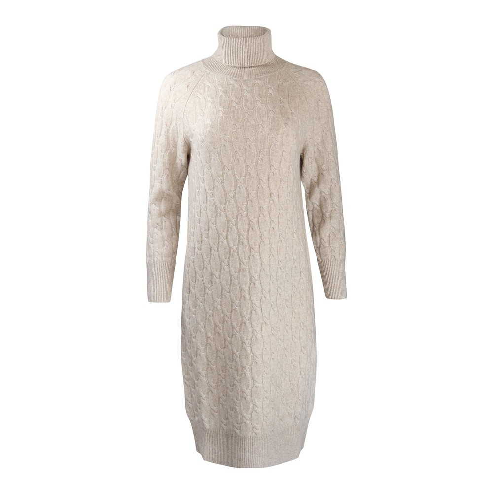 Maxmara Studio Leandra Cable Knit Dress Beige