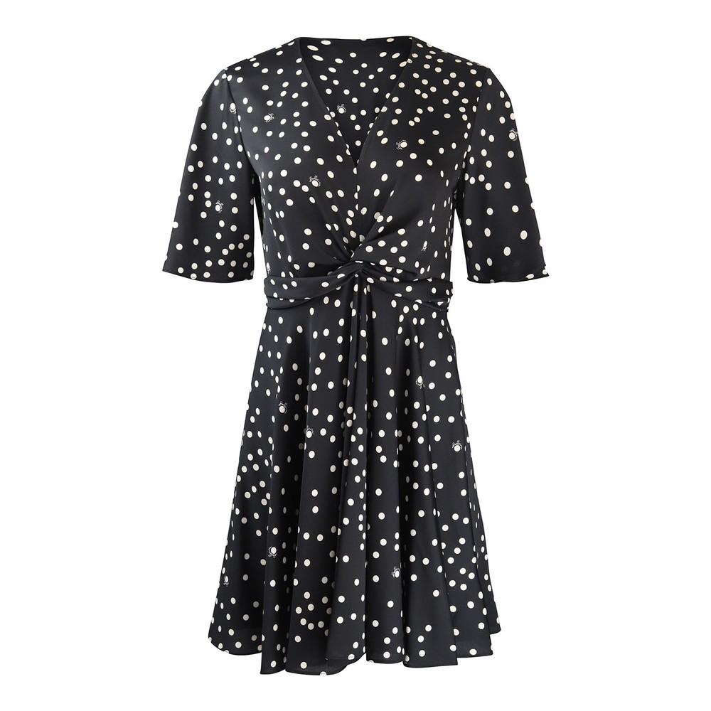 Marella Agone Spotted Dress Black