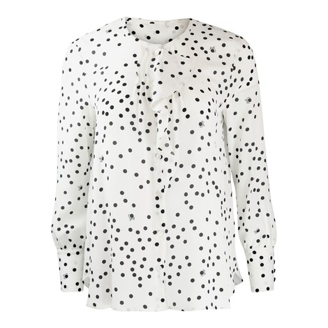 Marella Albano Frilled Spotted Shirt