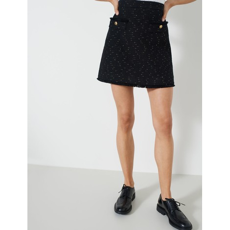 Marella Basket-Weave Short Skirt