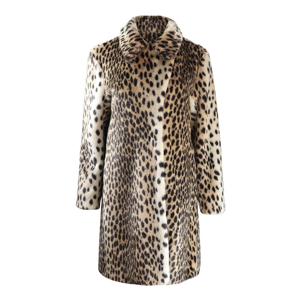 Marella Dionigi Faux Fur Coat Animal Print