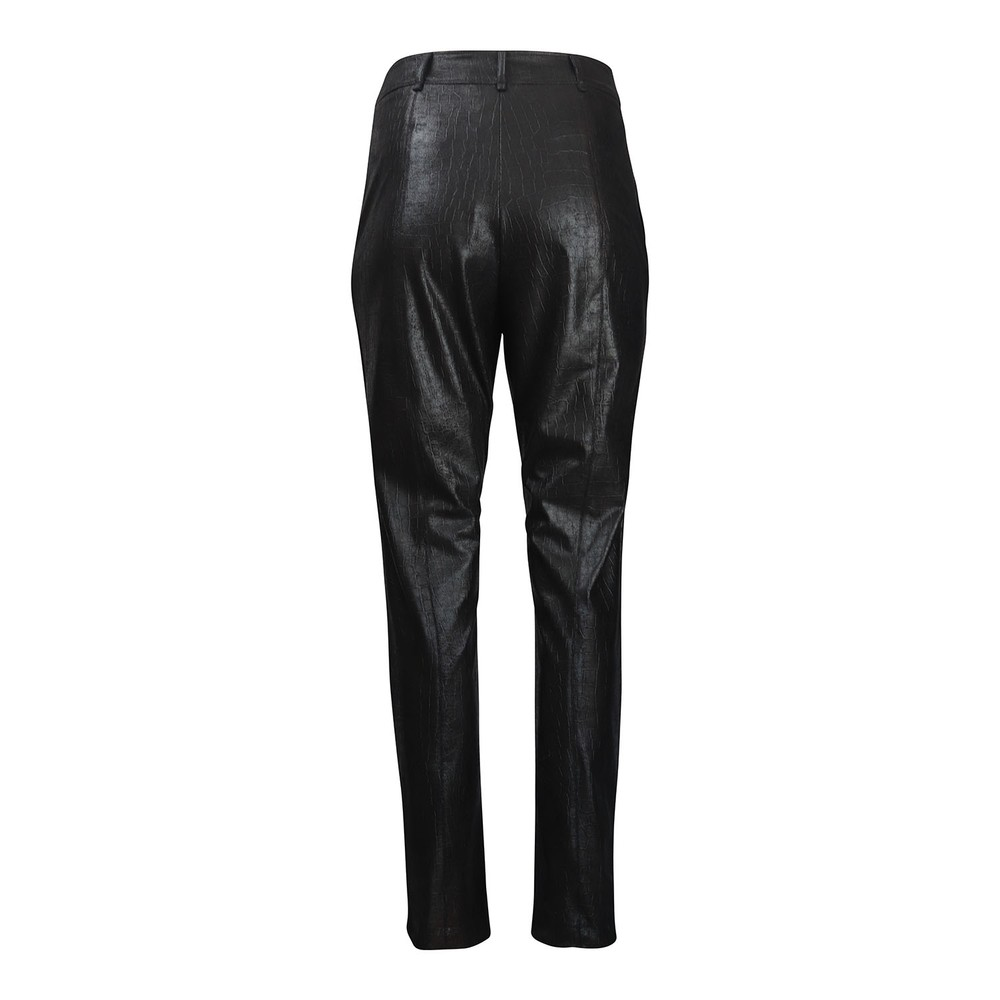 Marella Cabaret Faux Leather Trousers Black