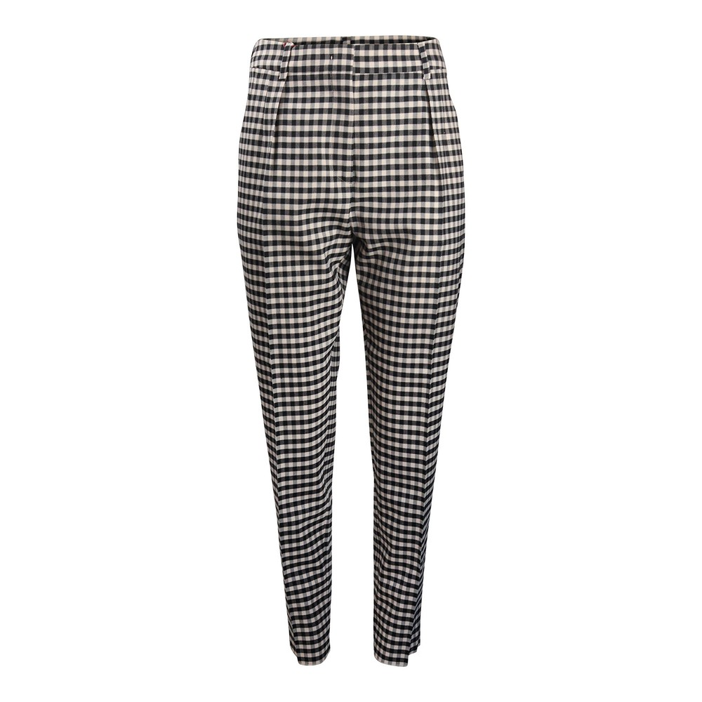 Maxmara Studio Bruna Check Trousers Black & White