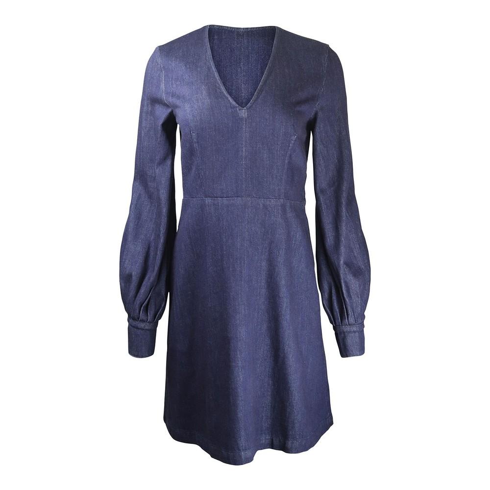 Sportmax Puff Sleeve Denim Mini Dress Denim