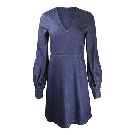 Sportmax Puff Sleeve Denim Mini Dress