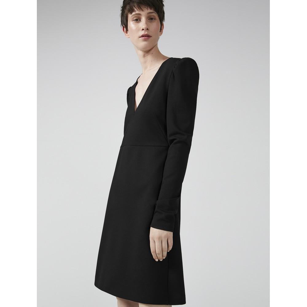 Sportmax Memo V Neck Dress Black