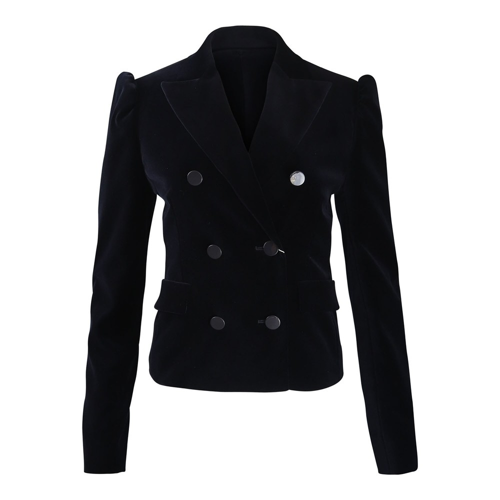 Sportmax Velvet Jacket Navy