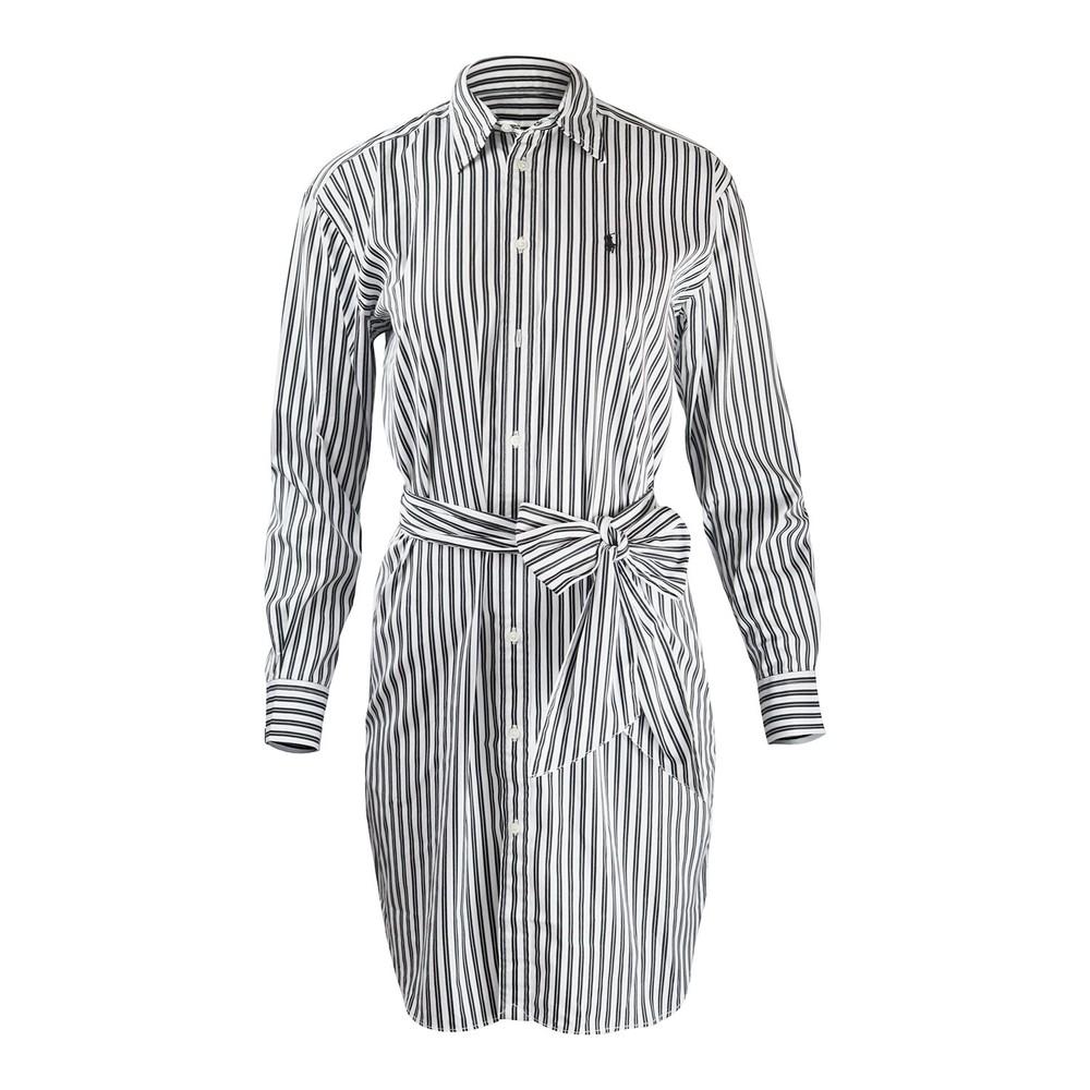 Ralph Lauren Womenswear Striped Casual Dress Black & White