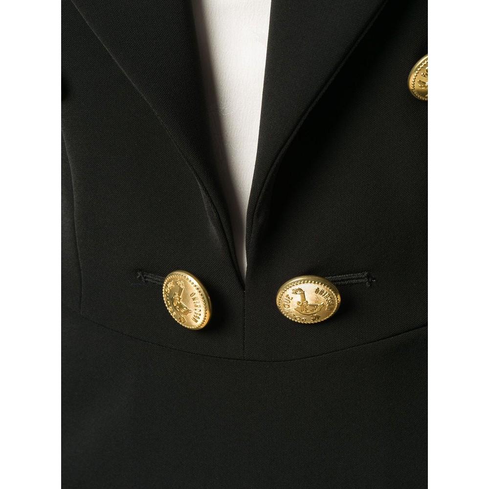 Moschino Boutique Cady Gold Button Dress Black