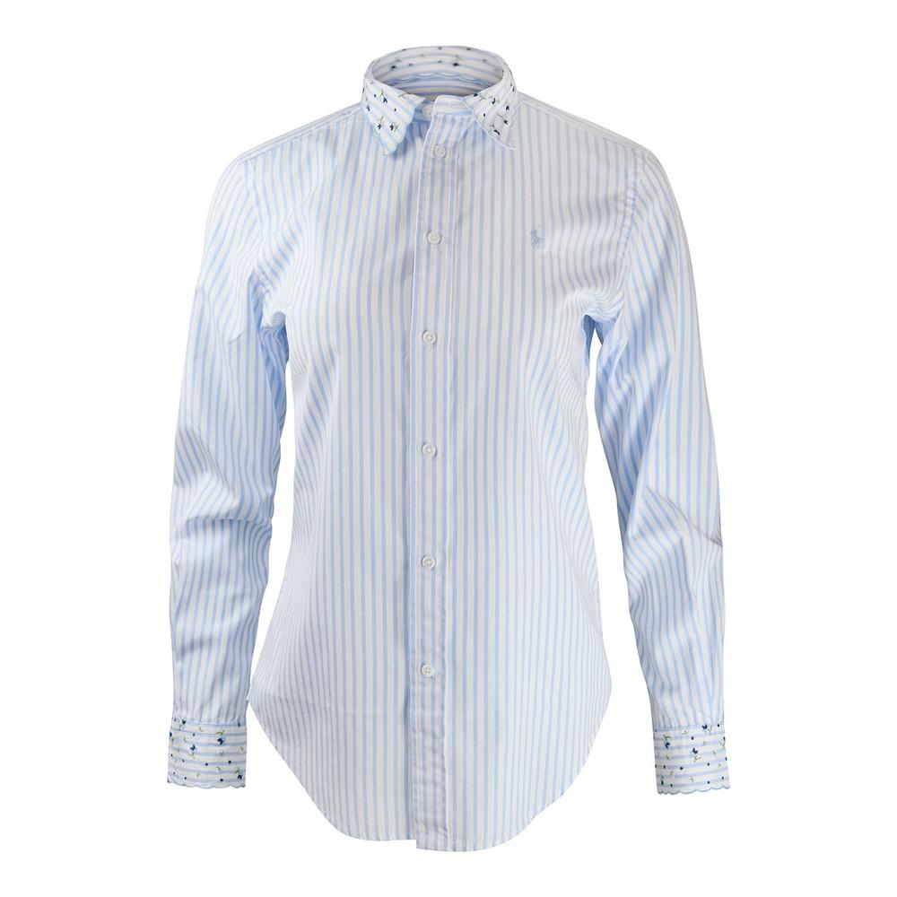 Ralph Lauren Womenswear Georgia Shirt White/Blue