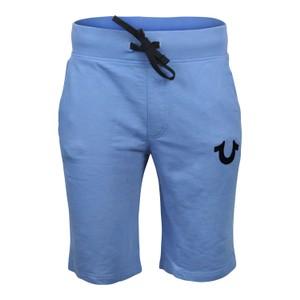 True Religion Hd Black Logo Sweat Shorts