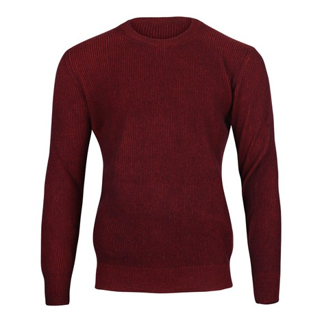Circolo Girocollo P.Inglese Knit Jumper in Burgundy