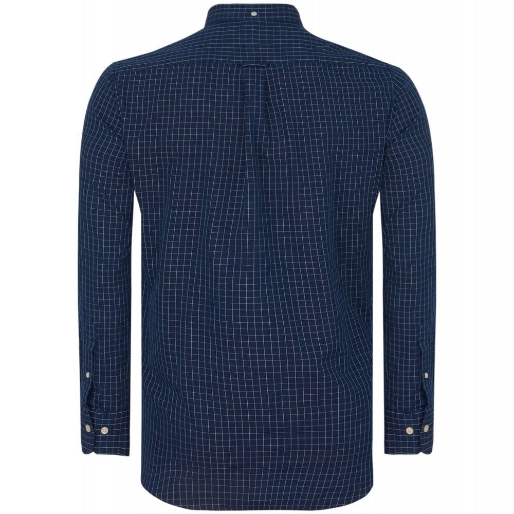 GANT D1. Indigo Window Pane Shirt Indigo