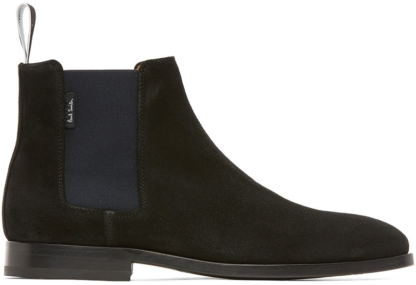 PS Paul Smith Gerald Suede Boot Black