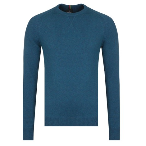 PS Paul Smith Pullover Crew Neck Jumper in Mid Blue