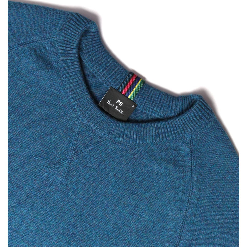 PS Paul Smith Pullover Crew Neck Jumper Mid Blue