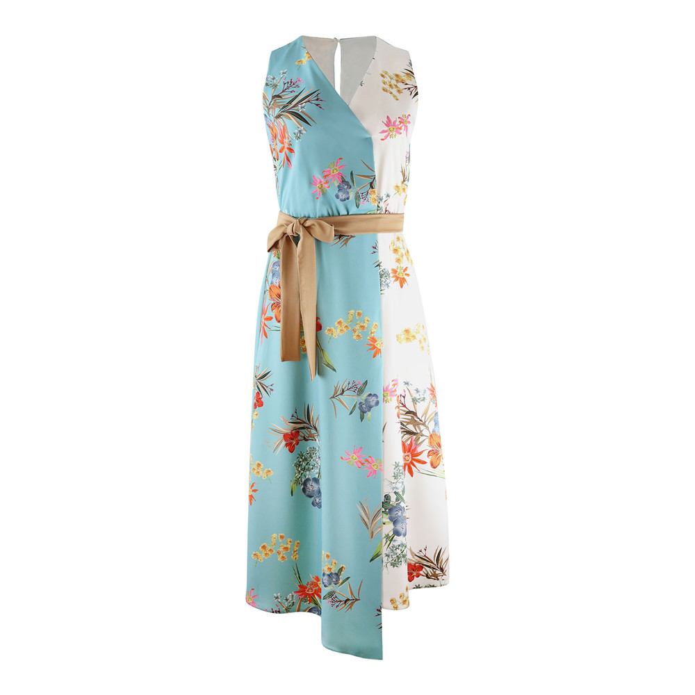 Marella Sleeveless Floral Dress Multi