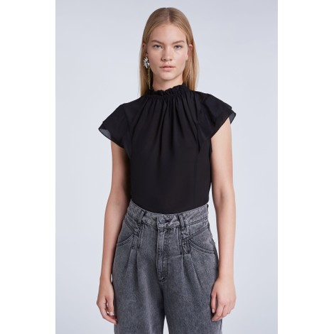 Set High Neck Frill Tee