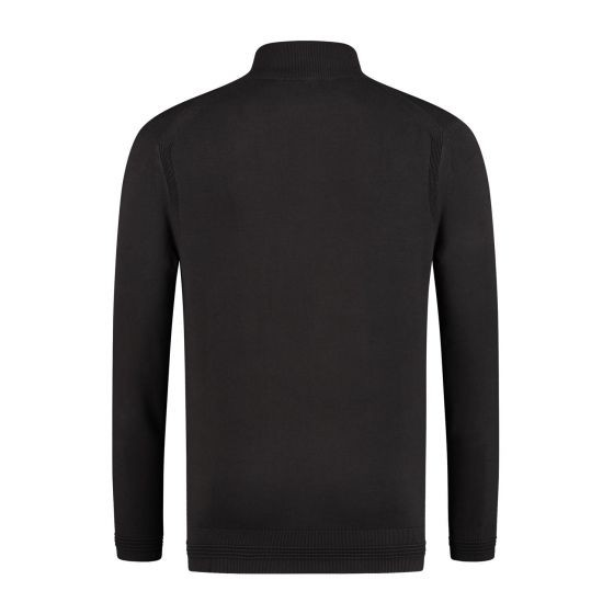 Emporio Armani 1/2 Zip Knit Jumper Black