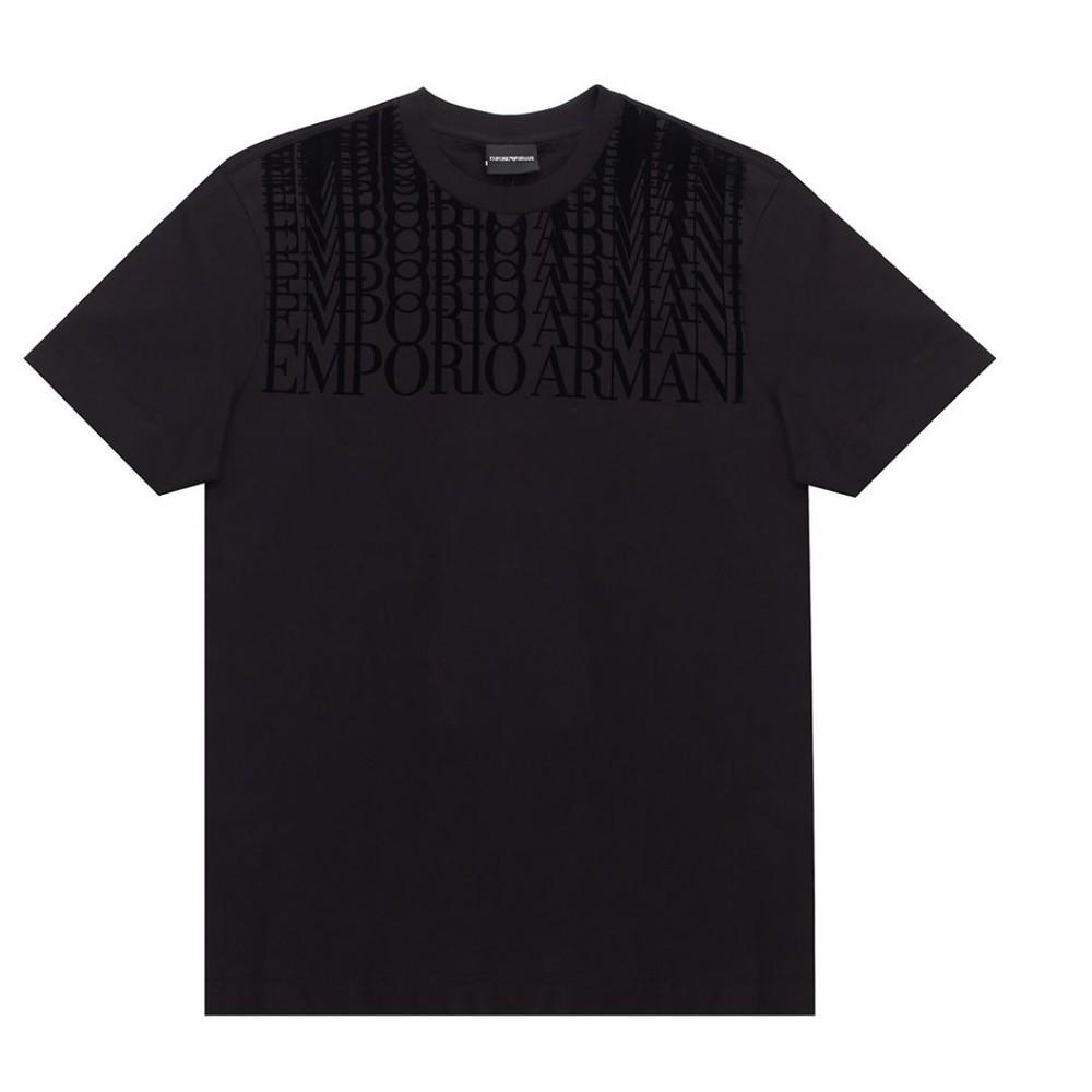 Emporio Armani Printed Logo Tee Black