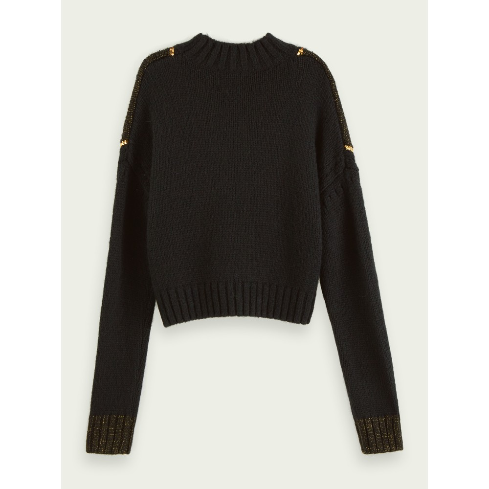 Scotch & Soda Knit with Sequin Detail Black