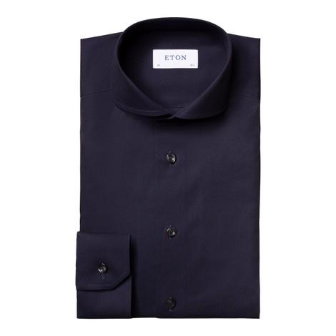 Eton Navy Diagonal Twill Slim Fit Shirt