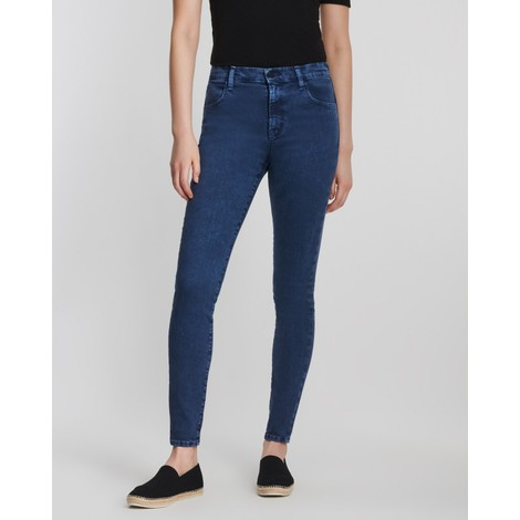 J Brand Alana High Rise Crop Dash Destruct Skinny Jeans