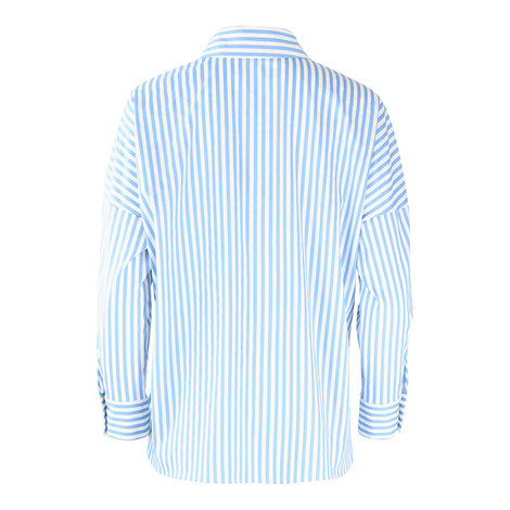 Marella Blue Striped Shirt with Applique
