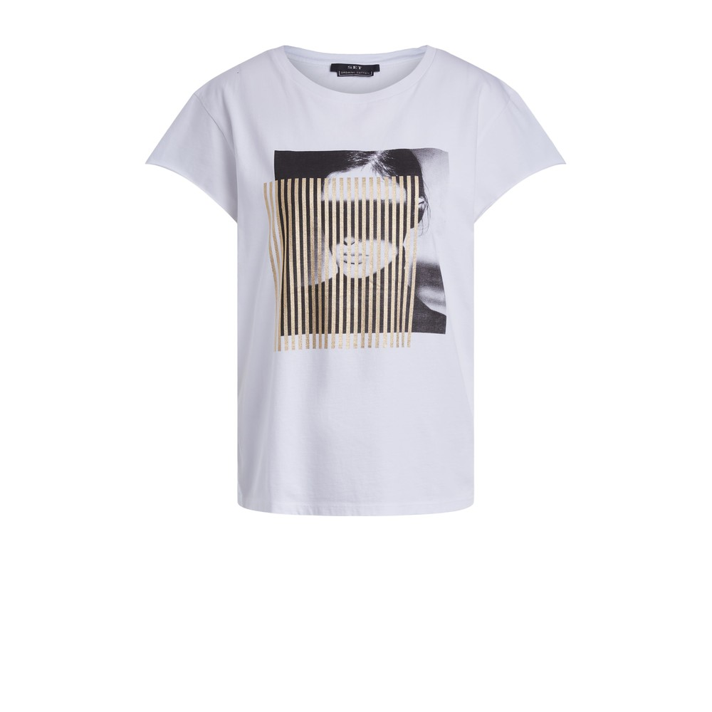 Set Short Sleeve Tee with Graphic White