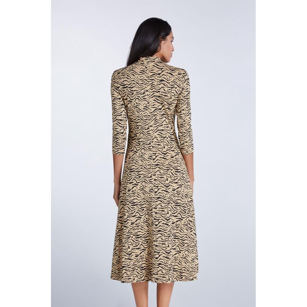 Set Zebra Jersey Dress Beige