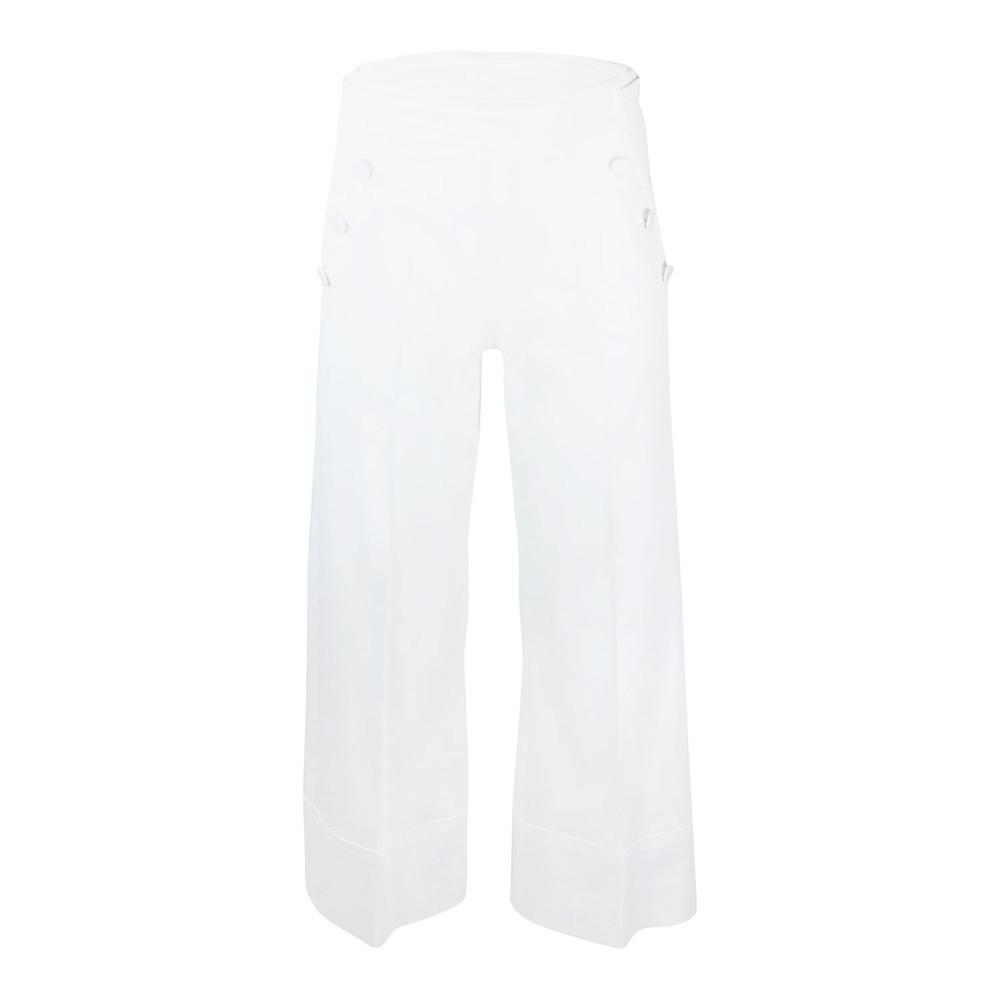 Marella White Button Front Culotte White