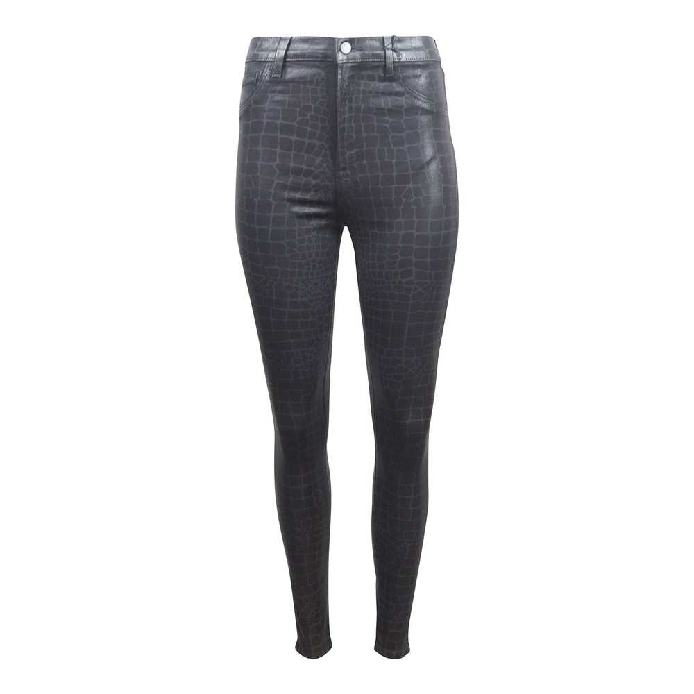J Brand Leenah High Rise Ankle Skinny Jeans Caiman Black