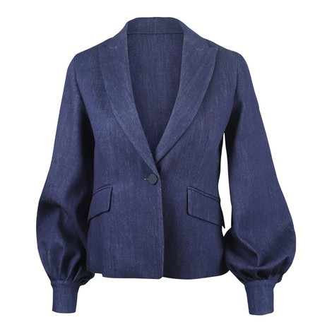 Sportmax Denim Jacket Puff Sleeve