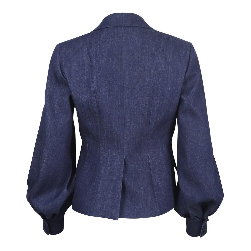 Sportmax Denim Jacket Puff Sleeve Denim