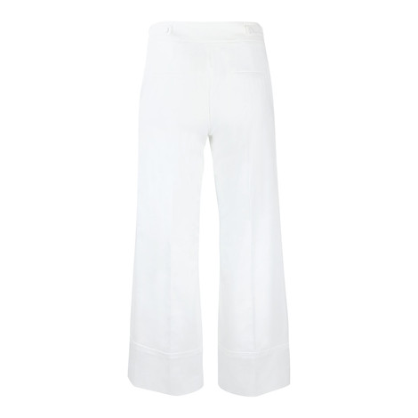 Marella White Button Front Culotte