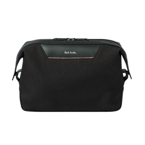 Paul Smith Canvas Travel Wash Bag With 'Signature Stripe' Trim
