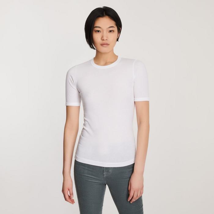 J Brand Marta Crewneck T-Shirt White
