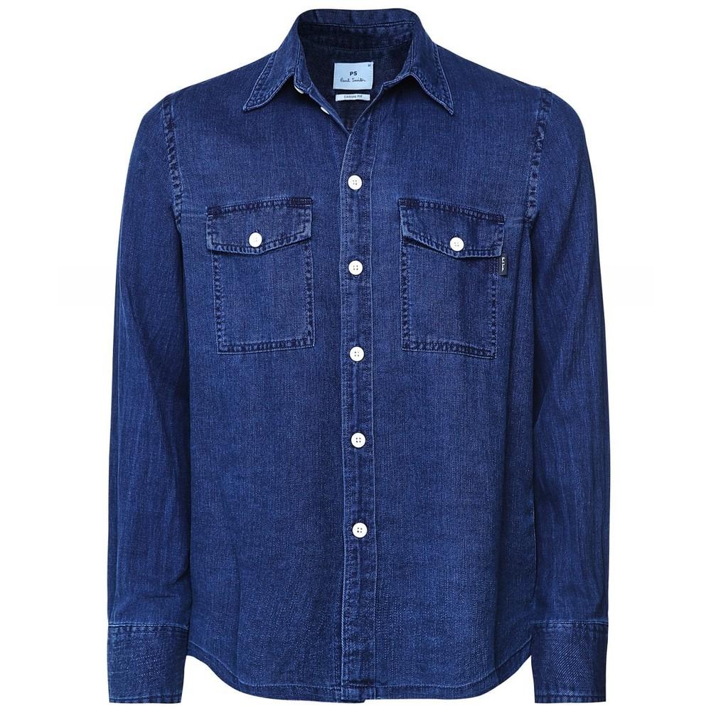 PS Paul Smith Casual Fit Pocket Shirt Denim