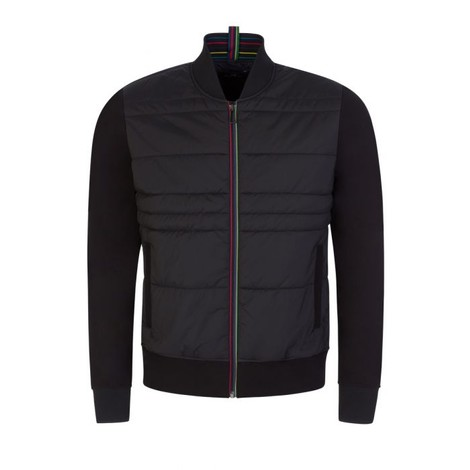 PS Paul Smith Mixed Media Bomber Jacket